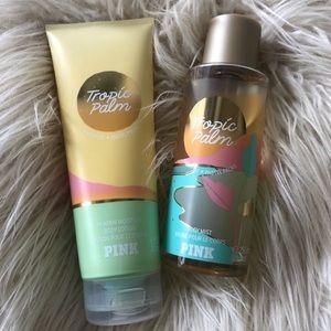 VS Pink Tropic Palm Mist & Lotion Set